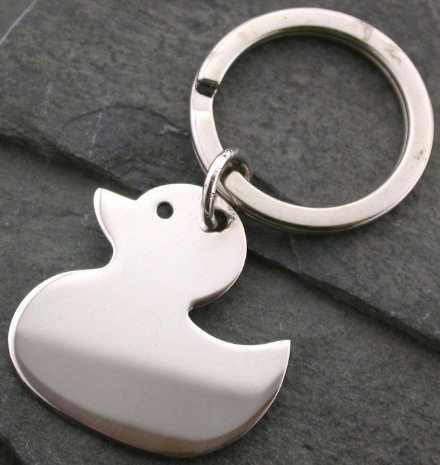 Sterling Silver Hallmarked Duckie Shaped Keyring